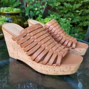 Franco Sarto Rosely Cork Wedges Almond 10M